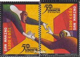 San Marino 1974-1975 (kompl.Ausg.) Postfrisch 2001 50Jahre UNHCR - Neufs