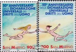 San Marino 1803-1804 (kompl.Ausg.) Postfrisch 1998 Menschenrechte - Neufs