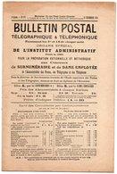 Gg03V   Bulletin Postal Telegraphique & Telephonique Concours Surnumeraire De Dame Employée De 1912 - Grand Format : 1901-20