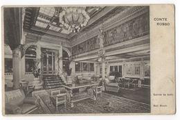 Cartolina - Postcard, Non Viaggiata (unsent), Motonave Lloyd Sabaudo - Conte Rosso, Salone Da Ballo - Paquebots