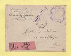 Ministere De L'Armee Et Des Fabrications De Guerre - Recommande En Franchise - 6-6-1918 - Direction Des Inventions - Guerra De 1914-18