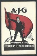 +++ CPA - Politique - A.J.G. - Wordt Lid Van De Arbeidersjeugd - Vereeniging - Illustrateur ?  // - Partis Politiques & élections