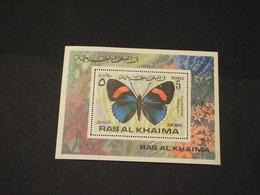 RAS AL KHAIMA - BF 1972 FARFALLA - NUOVO(++) - Ra's Al-Chaima
