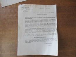 CAMBRAI LE 3 JUIN 1942 LE SOUS-PREFET CONCERNE LES OPERATIONS DE RAMASSAGE ET DE DISTRIBUTION DES PRODUITS LAITIERS - Documents Historiques