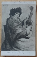 Salon D'Hiver 1911 Gr. Guitariste Par Raoul Carré ND Phot. - Pintura & Cuadros