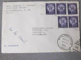 Lettre Philadelphia Usa Pour Suisse  Beau Cachet Philadephia 1955 - Stati Uniti