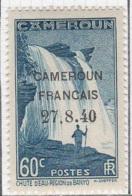 Cameroun Mandat 1940 Serie Cameroun Francais 27-8-40 Chute Eau 60c YT 219 Neuf* - Cameroun (1915-1959)