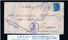 CG29 -  Lettera Da Arona Per Caino 18/11/1877 - Marcophilia