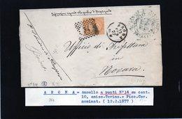 CG29 -  Lettera Da Arona Per Novara 12/2/1877 - Marcophilia