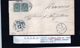 CG29 -  Lettera Da Arona Per Novara 8/2/1878 - Marcophilia