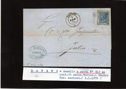 CG29 -  Lettera Da Baveno Per Intra 1/1/1876 - Marcophilia