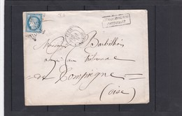 ETOILE N° 2  -Rue MILTON  + LSC +  N°60C -pour  COMPIEGNE - 4 JUIN 1875 - REF 1338 + Variété - Postmark Collection (Covers)