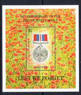 1995 Bahamas End Of World War II Medal  JOINT ISSUE Souvenir Sheet MNH - Bahamas (1973-...)