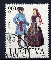 Lituanie - Lithuania - Litauen 1992 Y&T Y&T N°439 - Michel N°508 (o) - 2t Costume Régionale - Lituanie