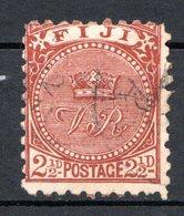 FIDJI - (Colonie Britannique) - 1891-93 - N° 44 - 2 1/2 P. Brun-orange - Fiji (...-1970)