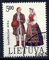 Lituanie - Lithuania - Litauen 1992 Y&T Y&T N°440 - Michel N°509 (o) - 5t Costume Régionale - Lituanie