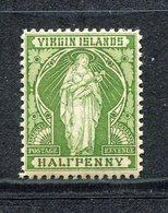 Vierges - N° 20a * - Neuf Avec Charnière - Erreur : Half - British Virgin Islands