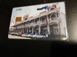 ZIMBABWE  ART   CHIPCARD  $200  FINE USED   **1045** - Zimbabwe