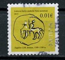 Lituanie - Lithuania - Litauen 2015 Y&T N°1027 - Michel N°1176 (o) - 0,01€ Monnaie - Lituanie