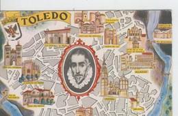 Postal 6627 : Plano Ciudad Y Monumentos De Toledo - Cartes Postales