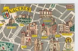 Postal 6636 : Plano Ciudad Y Monumentos De Caceres - Cartes Postales