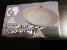 ZAMBIA  CHIPCARD  20+2 UNITS  TELE 2  SATTELITE DISH  USED CARD **1047** - Zambia