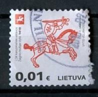 Lituanie - Lithuania - Litauen 2016 Y&T N°1051 - Michel N°1204 (o) - 0,01€ Chevalier Monté - Lituanie