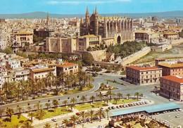 Espagne Palma De Mallorca Vue Générale (2 Scans) - Palma De Mallorca