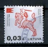 Lituanie - Lithuania - Litauen 2016 Y&T N°1052 - Michel N°1205 (o) - 0,03€ Chevalier Monté - Lituanie