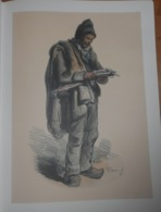 Jolie Gravure - Le Marchand De Peaux De Lapins - Prints & Engravings