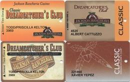 Lot De 4 Cartes : Jackson Rancheria Casino - Cartes De Casino