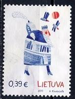 Lituanie - Lithuania - Litauen 2017 Y&T N°(6) - Michel N°1263 (o) - 0,39€ Dessin D'enfant - Lituanie