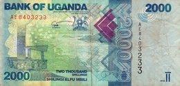 UGANDA 2000 SHILLINGS 2010 P-50a  CIRC. - Uganda