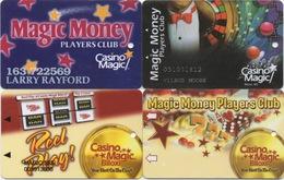 Lot De 4 Cartes : Casino Magic : Biloxi MS - Cartes De Casino