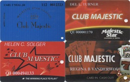 Lot De 4 Cartes : Majestic Star Casino : Gary IN - Cartes De Casino
