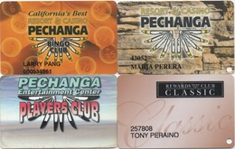 Lot De 4 Cartes : Pechanga Resort & Casino CA - Cartes De Casino