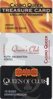 Lot De 3 Cartes : Casino Queen - Cartes De Casino