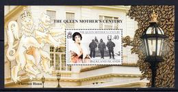 1999 Falkland Islands Queen Mother Shackleton Antarctica JOINT ISSUE Souvenir Sheet MNH - Falkland