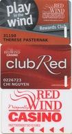 Lot De 3 Cartes : Red Wind Casino - Cartes De Casino