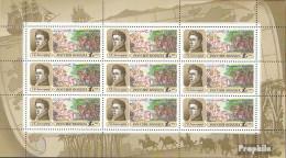 Russland 250Klb Kleinbogen (kompl.Ausg.) Postfrisch 1992 Forschungsreisen - Unused Stamps