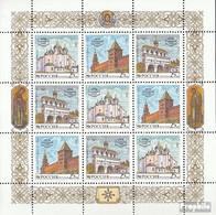 Russland 315-317 Kleinbogen (kompl.Ausg.) Postfrisch 1993 Nowgoroder Kreml - Unused Stamps
