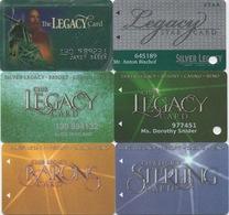 Lot De 6 Cartes : Silver Legacy Resort Casino : Reno NV - Cartes De Casino