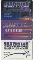 Lot De 3 Cartes : Silverstar Resort & Casino : Philadelphia MS - Cartes De Casino