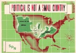 CPSM    Portugal Is Not A Small Country  Mapa SPN Secretariado Da Propaganda Nacional  Lisbon - Portugal