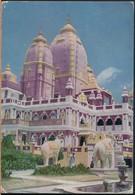 °°° 21038 - INDIA - NEW DELHI - LAKSHMINARAYAN TEMPLE - 1954 With Stamps °°° - India