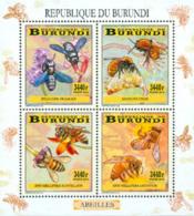BURUNDI 2014 - Abeilles - Feuillet 4 X 3440 BIF - Burundi