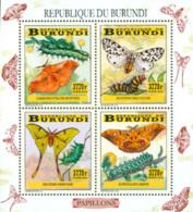 BURUNDI 2014 -  Chenilles Et Papillons - I I - 4 Timbres 3770 BIF - 2010-..: Nuovi