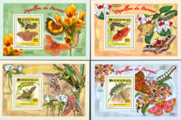 BURUNDI 2014 -  Chenilles Et Papillons - I - 4  Blocs De Luxe-2025 BIF - 2010-..: Neufs