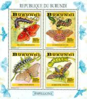 BURUNDI 2014 -  Chenilles Et Papillons - I - 4 Timbres 2025 BIF - 2010-..: Neufs