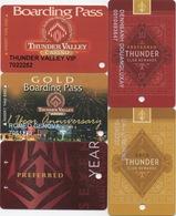 Lot De 5 Cartes : Thunder Valley Casino : Lincoln CA - Cartes De Casino